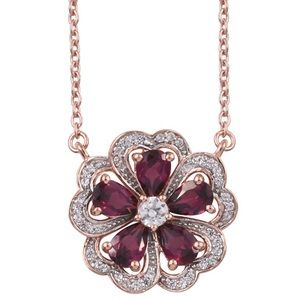 Jewelry - Orissa Rhodolite Garnet Necklace 14K Rose Gold